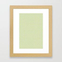 Kiwi Fruit Pattern Green Framed Art Print