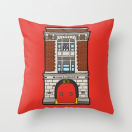 Ghostbusters Fire Station Throw Pillow