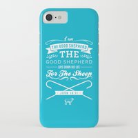 bible verses iPhone & iPod Cases featuring Typographic Motivational Bible Verses - John 10:11 by The Wooden Tree