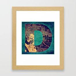 D for Denver Framed Art Print