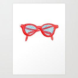 Red Sunglasses Art Print