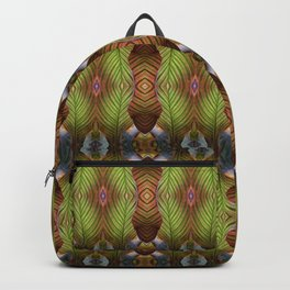 Striped Canna Lily Leaves Backpack