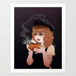 Autumnal Drink Art Print