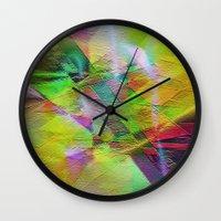 "lemon Wall Clocks featuring "" Lemon ""  by shiva camille"