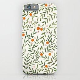 Oranges Foliage iPhone Case