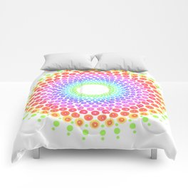 Rainbow Mandala Comforters