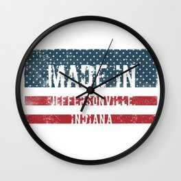 Made in Jeffersonville, Indiana Wall Clock