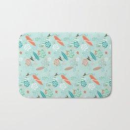 Surfs Up Blue Bath Mat