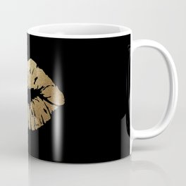 Gold Lips Blackout Coffee Mug