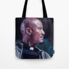 Father Gabriel With His Bible - The Walking Dead Tote Bag