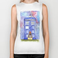amy pond Biker Tanks featuring Come along, Pond by Kate Trozzi
