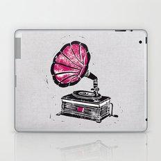Linocut Gramophone Laptop & iPad Skin