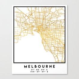MELBOURNE AUSTRALIA CITY STREET MAP ART Canvas Print