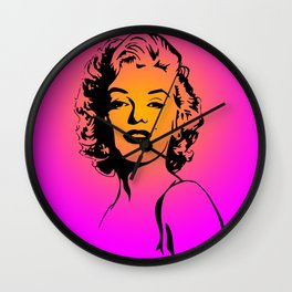 Marilyn Pink Wall Clock