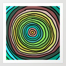 Circle Stripes Art Print