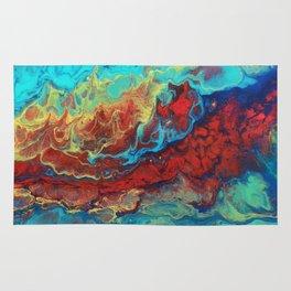 Abstract flow Macro Rug