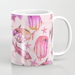 Soft pink underwater fisch scenery Coffee Mug