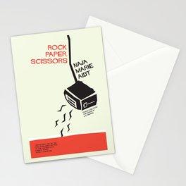 Rock, Paper, Scissors Stationery Cards