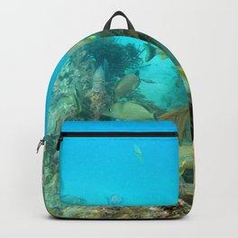 Watercolor Seascape, St John 33, USVI Backpack