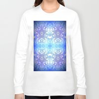 frozen Long Sleeve T-shirts featuring Frozen Stars Periwinkle Lavender Blue by 2sweet4words Designs