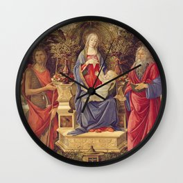 Botticelli - Madonna With Saints Wall Clock