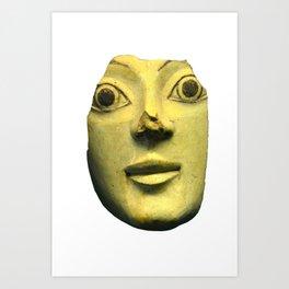 Ancient Greek Pottey Mask Art Print