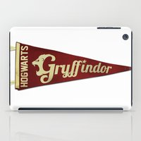 gryffindor iPad Cases featuring Gryffindor 1948 Vintage Pennant by Andy Pitts