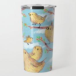 Yellow Birds in a Tree Travel Mug