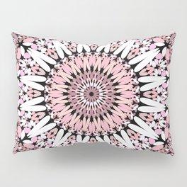 Pink Floral Gravel Mandala Pillow Sham