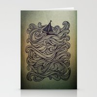sail Stationery Cards featuring Sail by Meyyen