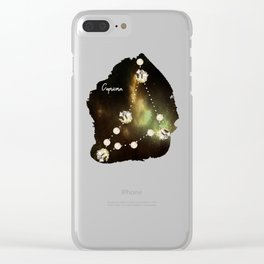 Capricorn Constellation in Smoky Quartz - Star signs and birth stones Clear iPhone Case