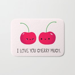 I Love You Cherry Much Bath Mat