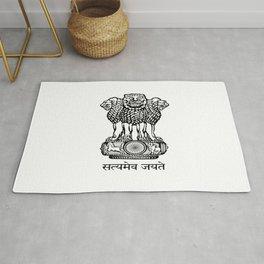 emblem of India. Rug