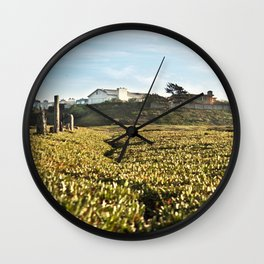 House Near The Cliff Wall Clock