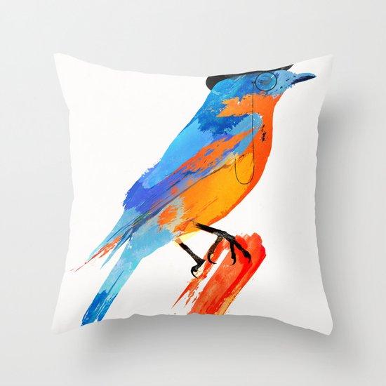 Lord Birdy Throw Pillow