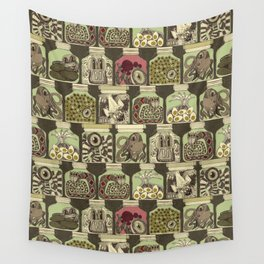 weird pickles vintage Wall Tapestry