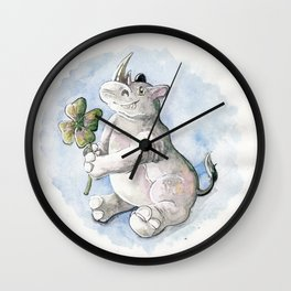 Lucky Rhino Wall Clock