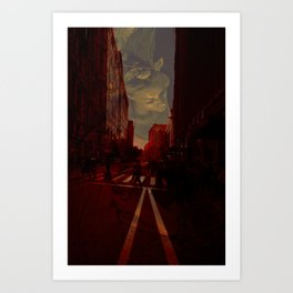 Cities and Desire II Art Print