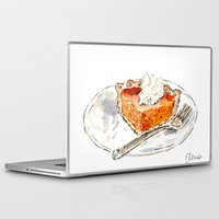 pie Laptop & iPad Skins featuring Pumpkin Pie by Elena Sandovici