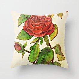 A Garden of a Single Rose Throw Pillow
