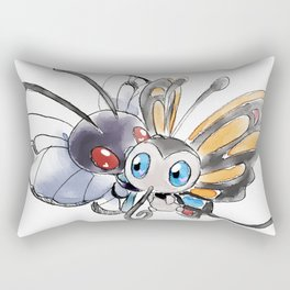 Butterfree and Beautifly Rectangular Pillow