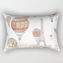 Voyages Over Paris ~ Refresh Rectangular Pillow