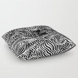 black flow Floor Pillow