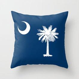Flag of South Carolina - High Quality image Throw Pillow