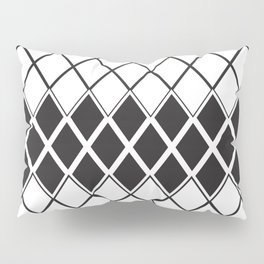 Rombs Black and white pattern Pillow Sham