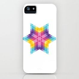 Fig. 026 Colorful Geometric Star iPhone Case