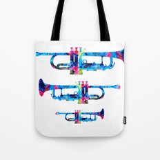 Colorful Trumpet 2 Art By Sharon Cummings Tote Bag
