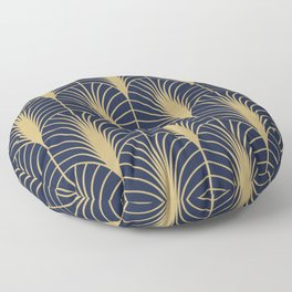 Arches in Navy and Gold Floor Pillow