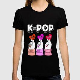 Kpop K-Pop Finger Heart T-shirt