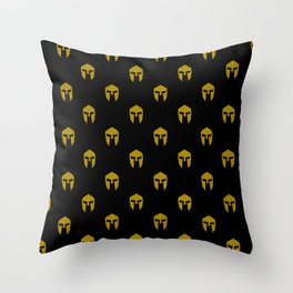 Spartan pattern Throw Pillow